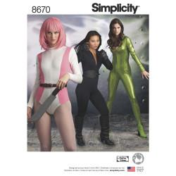 Cosplay Jumpsuit voksen kostume også plussize Simplicity snitmønster 8670