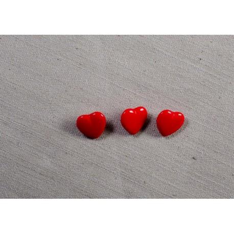 Knap m/øje 14mm rødt hjerte