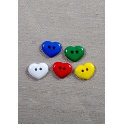 Hjerte knap 2-huls 15mm