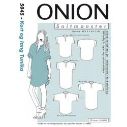 Kort og lang tunika Onion snitmønster