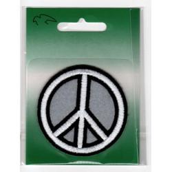 Peace symbol Broderet strygemærke Ø 6 cm