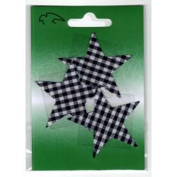 Strygemærke Stjerne 3 stk.pr kort 6x6 cm