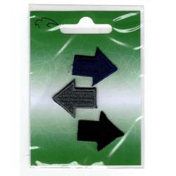 Broderet Strygemærker Pile 3x2,5 cm