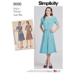 1940èrne vintage kjole snitmønster