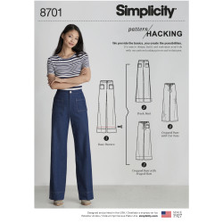 Lange bukser også plusmode snitmønster
