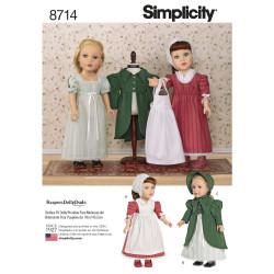 Dukketøj til 45,5 cm dukke snitmønster
