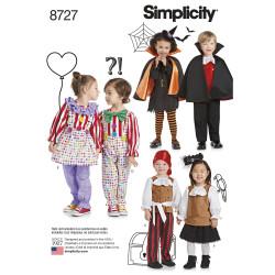 Børne kostume Klovn vampyr og pirat snitmønster