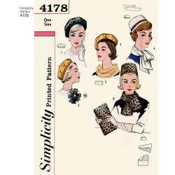 1960èr tilbehør dame snitmønster 4178
