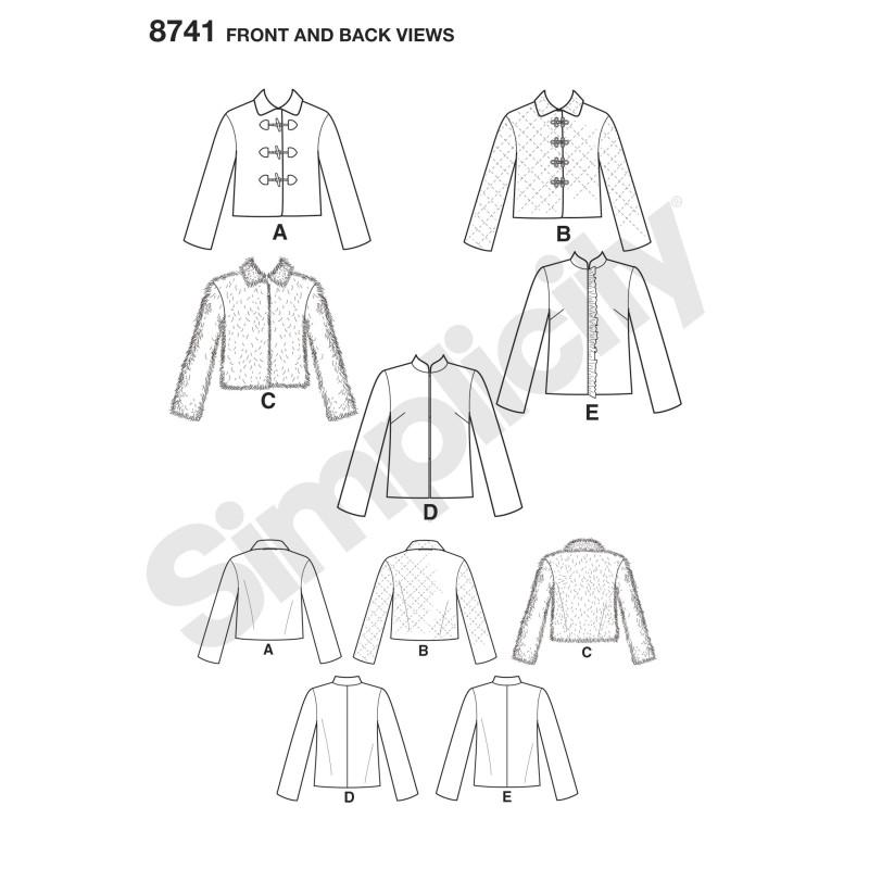 Kort jakke snitmønster easy