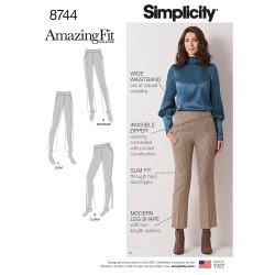 Lange bukser også plusmode snitmønster 8744