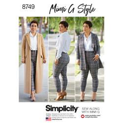 Frakke jakke og bukser også plusmode snitmønster 8749