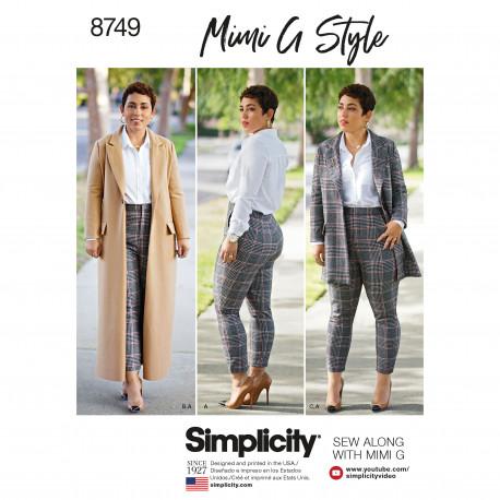Frakke jakke og bukser også plusmode snitmønster