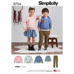 Børnetøj dreng/pige snitmønster easy 8754