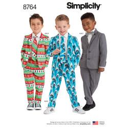 Drengetøj Jakkesæt og slips snitmønster
