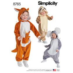 Kostume heldragt ræv mus og vaskebjørn snitmønster