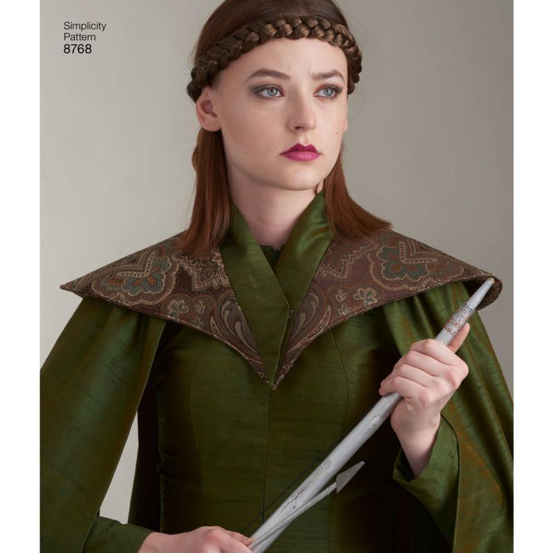 Fantasikostume voksen slag frakke snitmønster