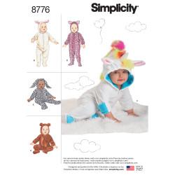 Baby kostume snitmønster 8776