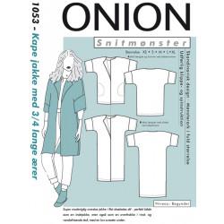 Kape jakke m/ 3/4 lange ærmer Onion snitmønster