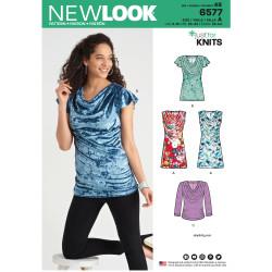 5d50f4fb9010 Bluse og kjole m vandfald New look snitmønster 6577