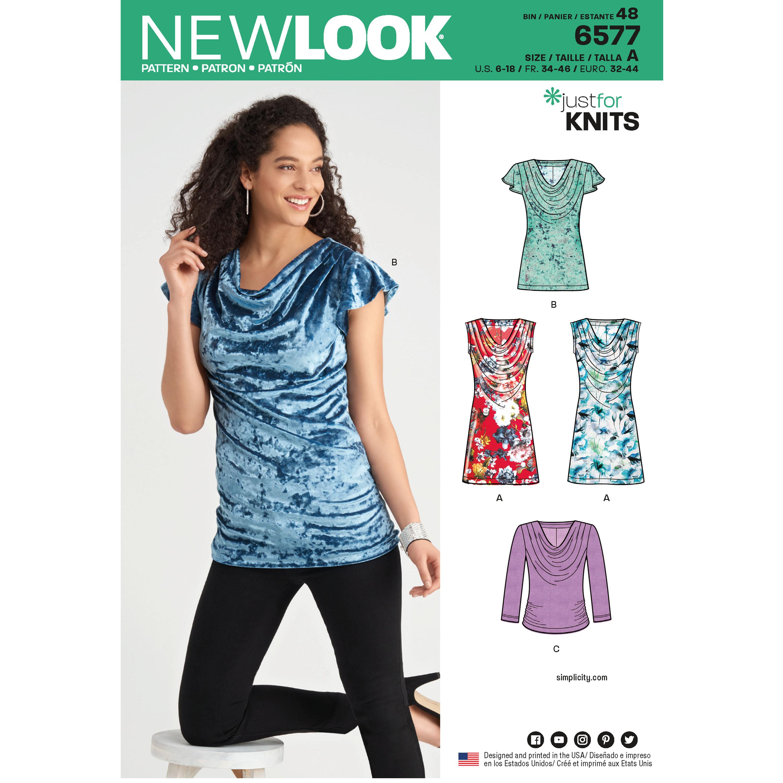 fd7d5875f26 Kjole og bluse m/vandfald New look snitmønster