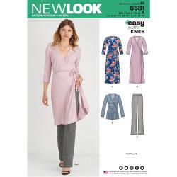 Slå-om kjole, tunika og bukser New look snitmønster easy