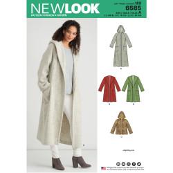 Løs frakke m/hætte New look snitmønster