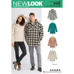 Herre/dame Fleece jakke New look snitmønster 6588