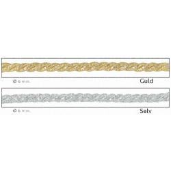 Dekorations bånd snoet 3 tråde 6mm