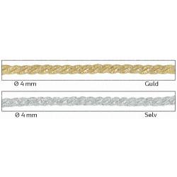Dekorations bånd snoet 3 tråde Ø 4mm