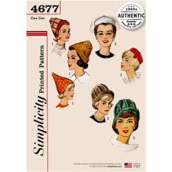 1960 retro hatte og huer snitmønster