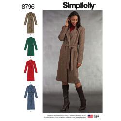 Frakke også plusmode snitmønster simplicity 8796