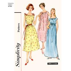 1950èrne vintage natkjoler snitmønster