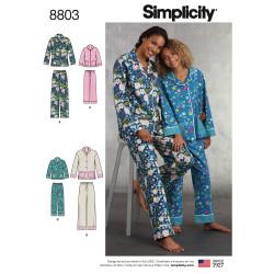 Pyjamas til mor og datter snitmønster