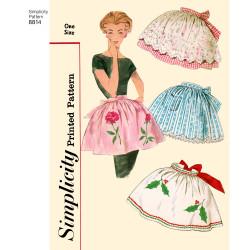 1950èr vintage forklæde snitmønster Simplicity 8814