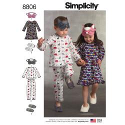 Pyjamas natkjole og hjemmesko børnetøj snitmønster