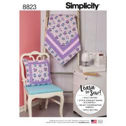 Pude og tæppe snitmønster Simplicity 8823