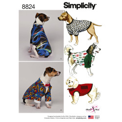 Hundetøj snitmønster Simplicity 8824