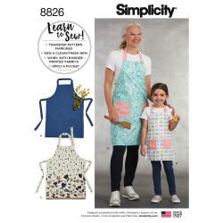 Forklæde mor/datter snitmønster Simplicity 8826