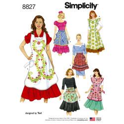 Forklæde snitmønster Simplicity 8827