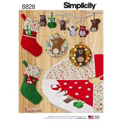 Grydelapper julesok og juletræstæppe snitmønster