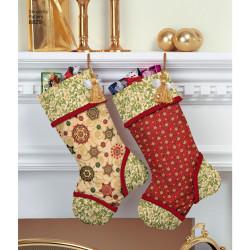 Gavesæk, juletræstæppe og julesok snitmønster