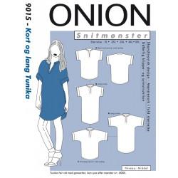 Kort/lang tunika onion snitmønster