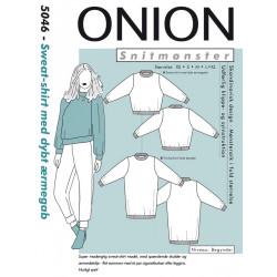 Sweat-shirt m/dybt ærmegab Onion snitmønster