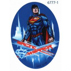 Superman Printet strygemærke oval 11x8 cm