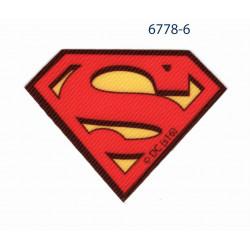 Superman Logo printet strygemærke 7x5 cm