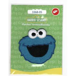 Cookie Monster Sesame street Broderet strygemærke 6x6 cm