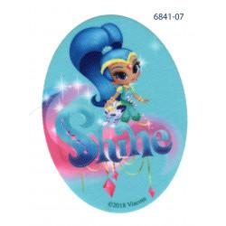 Shine Printet strygemærke oval 11x8 cm