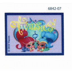 Shimmer & Shine Printet strygemærke 5,5x7,5 cm