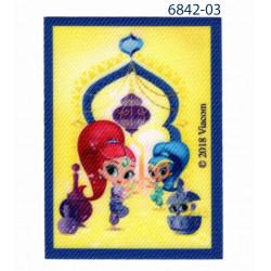 Shimmer & Shine printet strygemærke 7,5x5,5 cm