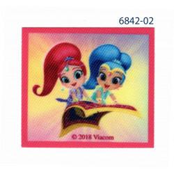 Shimmer & Shine printet strygemærke 6x6,5 cm